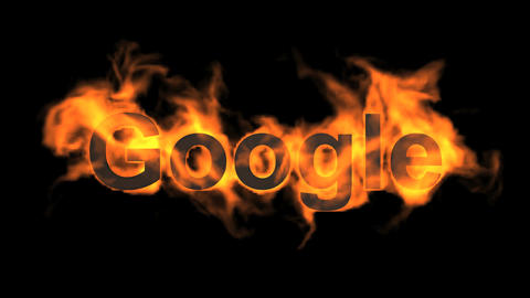 flame google word,fire text Stock Video Footage