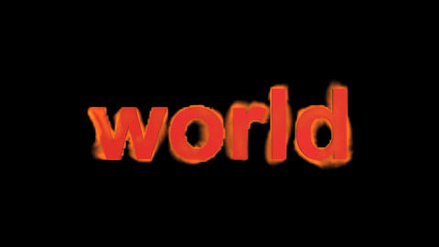 flame world word,fire text Stock Video Footage