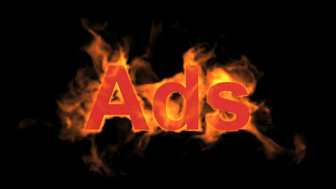 flame ads word,fire text Stock Video Footage