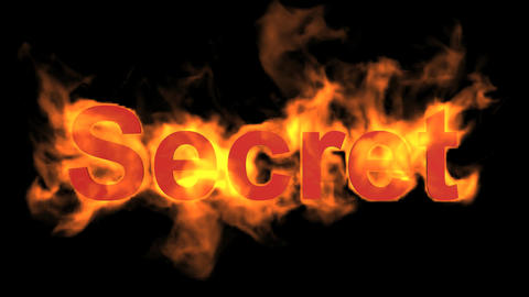 flame secret,fire text Stock Video Footage