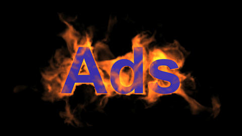 flame blue ads word,fire text Stock Video Footage