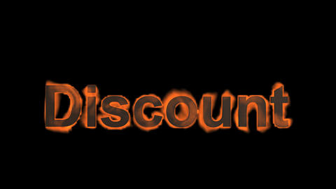flame discount word,fire text Stock Video Footage