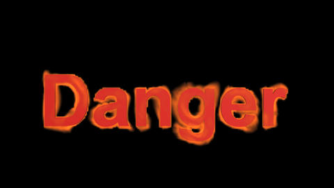 flame danger word,fire text Stock Video Footage