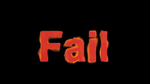 flame fail word,fire text Stock Video Footage