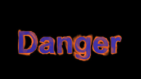 flame purple danger word,fire text Stock Video Footage