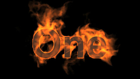 flame one word,fire text Stock Video Footage