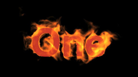flame one word,fire text Animation