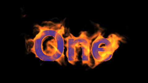flame purple one word,fire text Animation