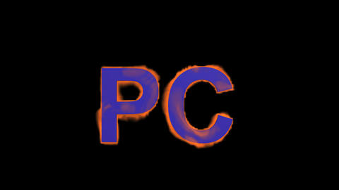 flame purple PC word,fire text Stock Video Footage