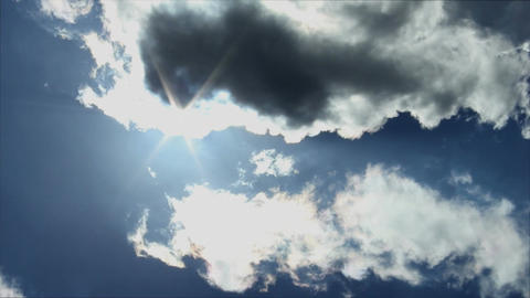 Clouds and Sun Stock Video Footage