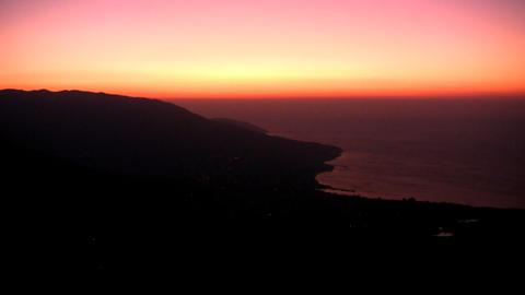 Sunrise over sea Stock Video Footage
