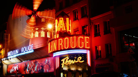 moulin rouge paris Stock Video Footage