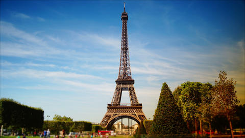 scenes of Paris, views of the Eiffel Tower, time-lapse Footage