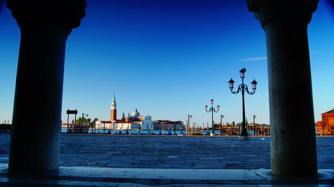 Some attractions of Venice city in Italy,San Marco Square Live Action