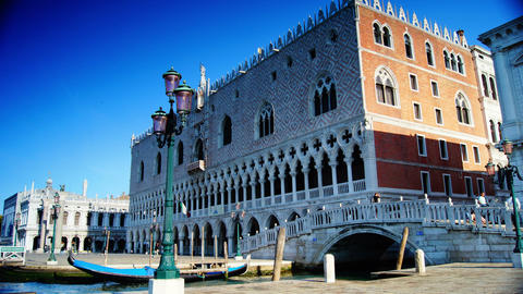 Some attractions of Venice city in Italy,Doge's Palace Stock Video Footage