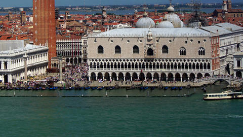 Some attractions of Venice city in Italy, time-lapse panorama Footage