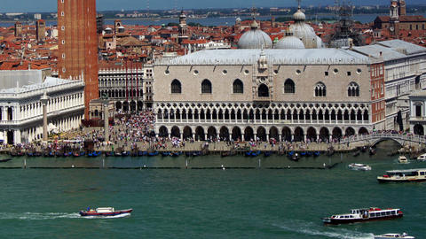 Some attractions of Venice city in Italy, time-lapse... Stock Video Footage