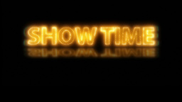 Show Time Opening Title Sequence stock footage