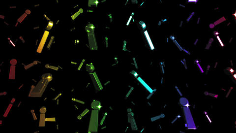 Looping Rainbow Exclamation Marks Falling Stock Video Footage