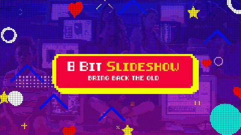 8 Bit Slideshow After Effects Template