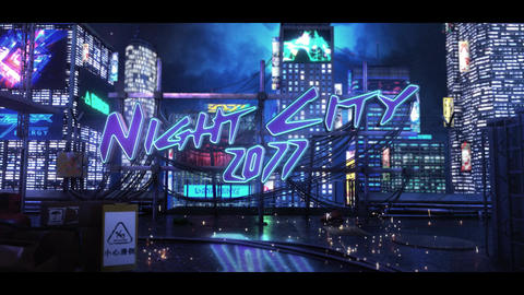 Cyber Neon Logo After Effects Template