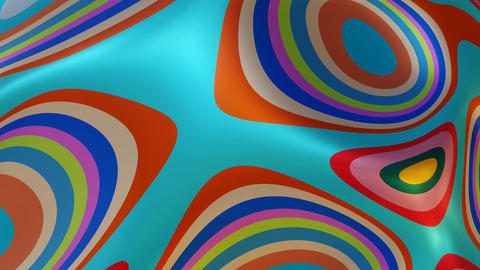 Funky Colorful Wavy Texture Abstract Backdrop Animation