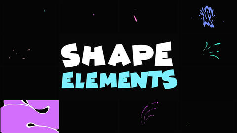 Shape Elements Pack Apple Motion Template