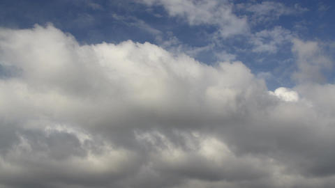 4k time lapse beautiful blue sky with clouds background. Sky clouds Live Action