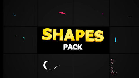 Noise And Grain Shapes Apple Motion Template