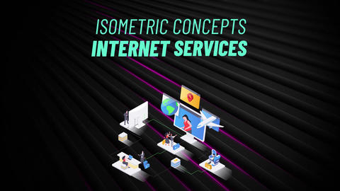 Internet Services - Isometric Concept After Effects Template
