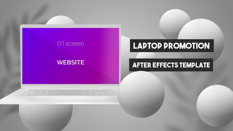Website Promotion After Effects Template