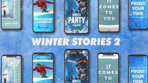 Winter/Frost Social Media Stories After Effects Template