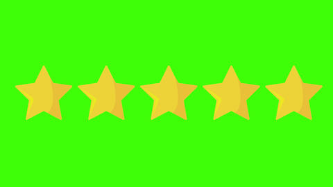 stars animated five 5 animated rating stars category five service category rating green screen Animation