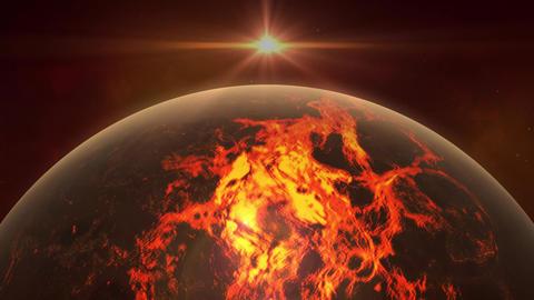 Space (Sun Earth Moon Meteorite...). Realistic Video. 2