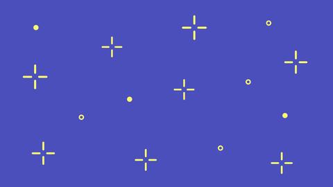 星のループアニメーション キラキラ シンプル イラスト 動画 線 シンプル かわいい 輝き CG動画