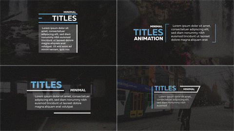 30 Long Titles After Effects Template