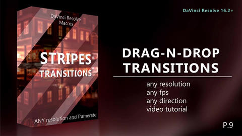 Drag-N-Drop Stripes Transitions Macros