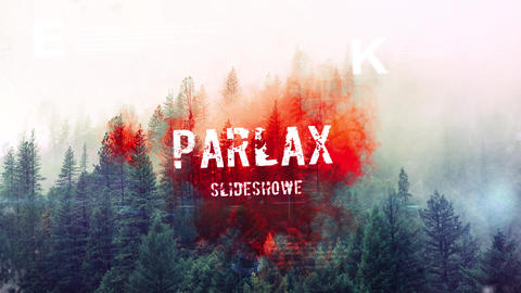 Glitch Parlax Slideshow After Effects Template