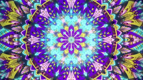 Beautiful vj loop trippy visual background for music audiovisual virtual flower futuristic Animation