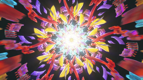 Ancient 3D seamless psychedelic vj loop with trippy art for backdround audiovisuals that opens third Animation