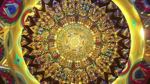 Audiovisual futuristic abstract mandala 3D art of trippy psychedelic trance third eye abstract Animation