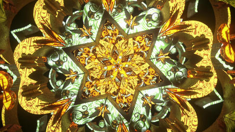 Psychedelic 3D seamless vj loop with trippy futuristic mandala background for audioviuals of trance Animation