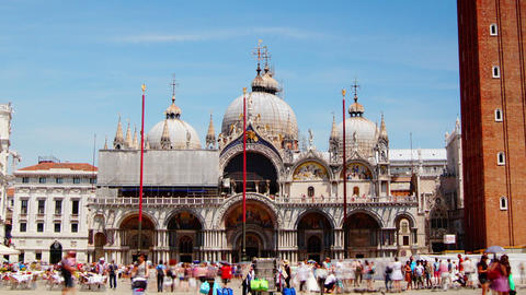 Some attractions of Venice city in Italy,San Marco Footage