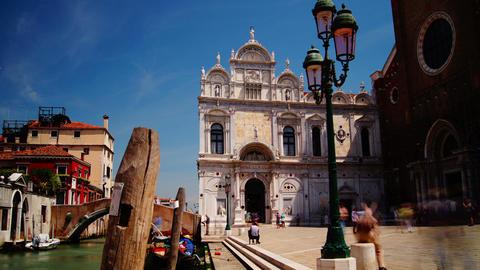 The Basilica di San Giovanni e Paolo,Venice, time Stock Video Footage