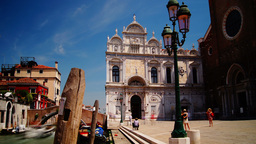 The Basilica di San Giovanni e Paolo,Venice, time Stock Video Footage