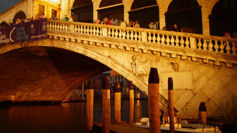 Some attractions of Venice city in Italy, Rialto bridge Footage