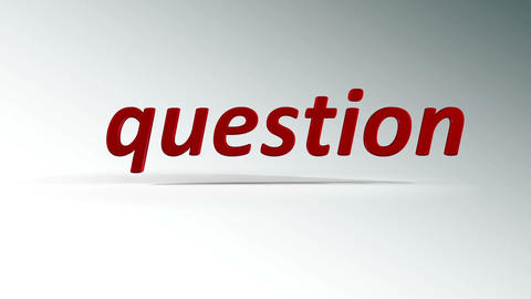 answer and question Stock Video Footage