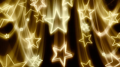 Gold Stars Flying In and Out Stock Video Footage