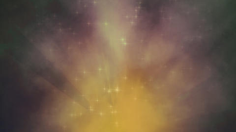 Gold Lagoon Nebula Looping Animation Animation