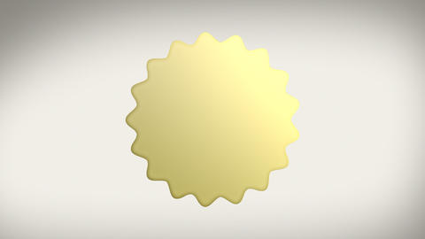 Gold Seal Sticker with Alpha Matte Stock Video Footage